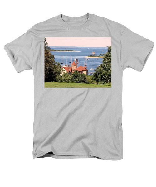 Coindre Hall Boathouse Men's T-Shirt  (Regular Fit) by Ed Weidman