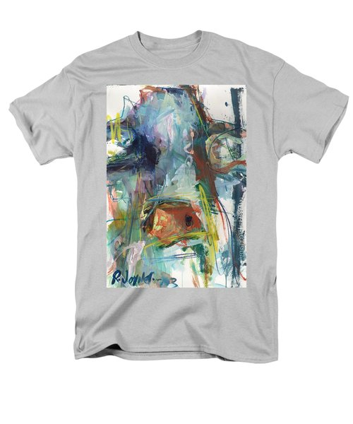 Colorful Cow Print Men's T-Shirt  (Regular Fit) by Robert Joyner