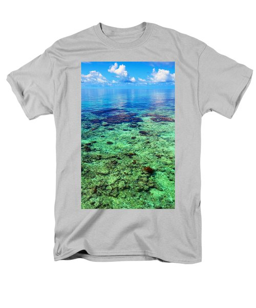 Coral Reef Near The Island At Peaceful Day. Maldives Men's T-Shirt  (Regular Fit) by Jenny Rainbow