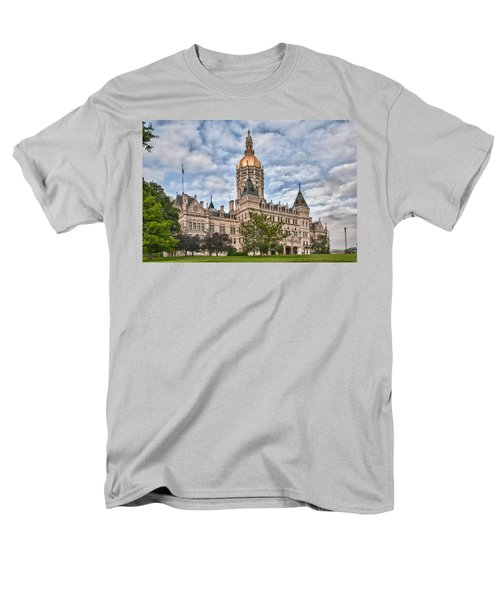 Ct State Capitol Building Men's T-Shirt  (Regular Fit) by Guy Whiteley