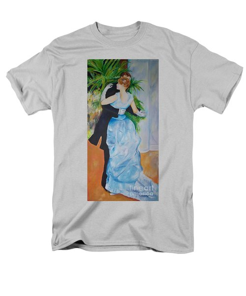 Men's T-Shirt  (Regular Fit) featuring the painting Dance In The City  by Eric  Schiabor