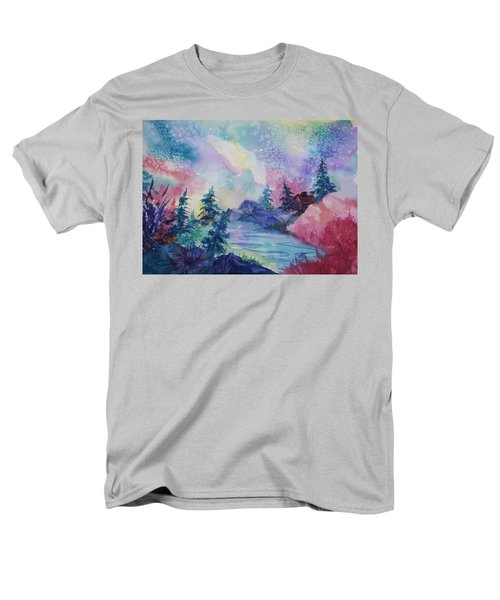 Dancing Lights II Men's T-Shirt  (Regular Fit) by Ellen Levinson