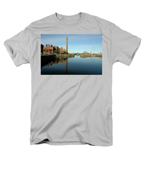 Men's T-Shirt  (Regular Fit) featuring the photograph Deep Blue Reflections by Jonah  Anderson