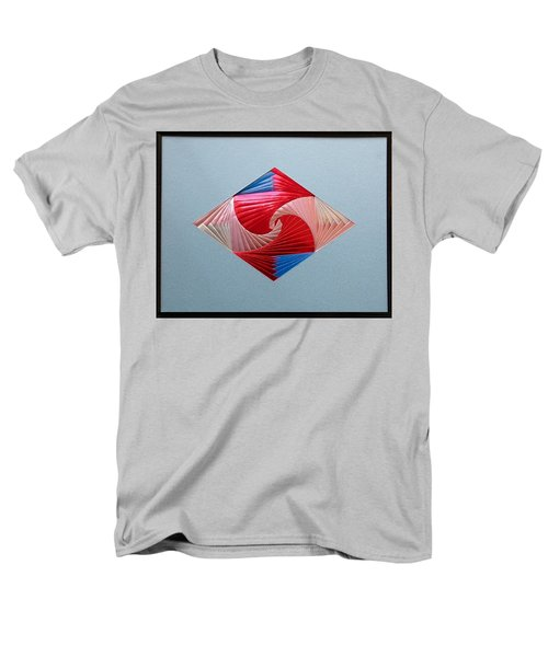 Men's T-Shirt  (Regular Fit) featuring the mixed media Diamond Design by Ron Davidson