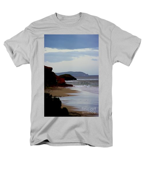 Digital Painting Of Smiths Beach Men's T-Shirt  (Regular Fit) by Blair Stuart