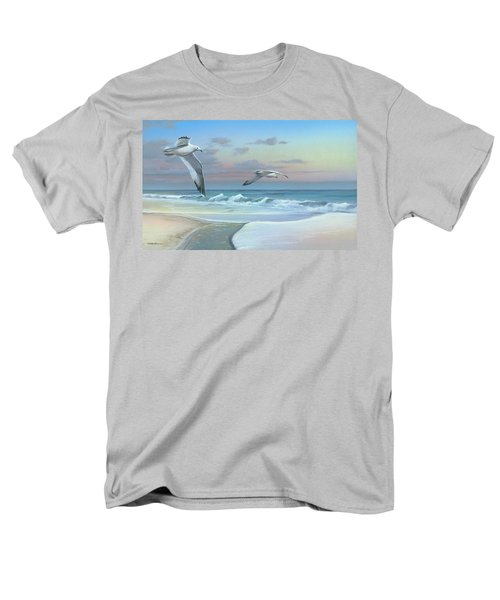 Men's T-Shirt  (Regular Fit) featuring the painting Dissolving Time by Mike Brown