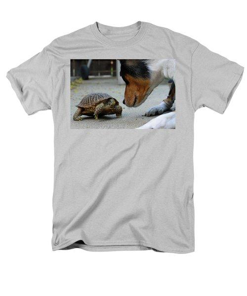 Dog And Turtle Men's T-Shirt  (Regular Fit) by Shoal Hollingsworth
