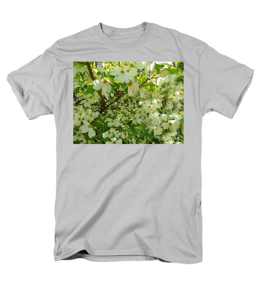 Men's T-Shirt  (Regular Fit) featuring the photograph Dogwood Kissed By The Sun by Becky Lupe