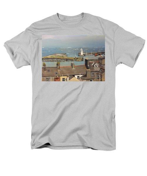 Men's T-Shirt  (Regular Fit) featuring the painting Donaghadee Ireland Irish Sea by Brenda Brown