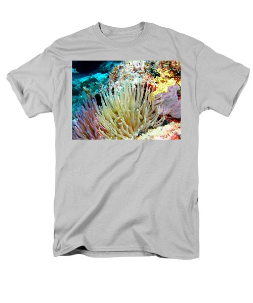 Men's T-Shirt  (Regular Fit) featuring the photograph Double Giant Anemone And Arrow Crab by Amy McDaniel