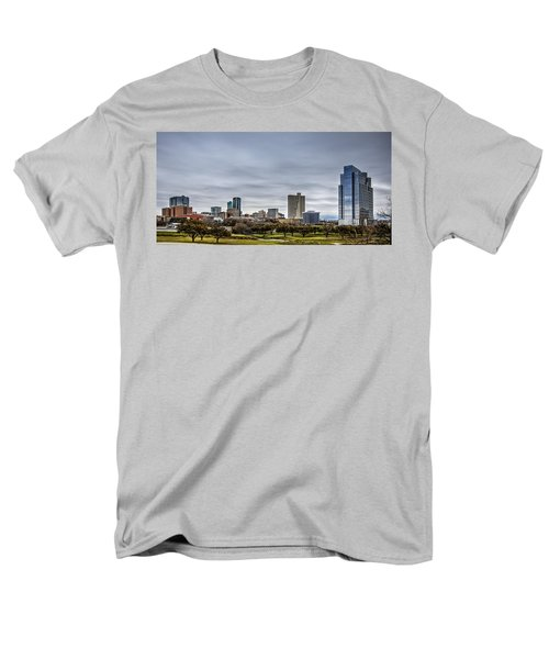 Downtown Fort Worth Trinity Trail Men's T-Shirt  (Regular Fit) by Jonathan Davison