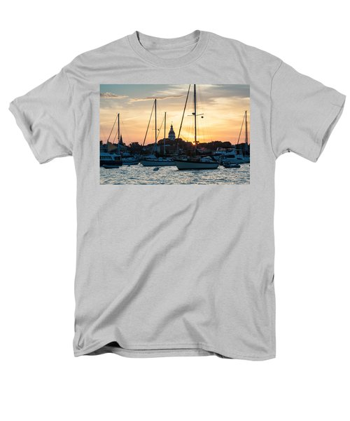Men's T-Shirt  (Regular Fit) featuring the photograph Downtown Glow by Jennifer Casey