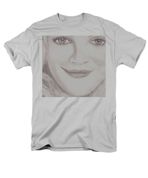 Men's T-Shirt  (Regular Fit) featuring the drawing Drew Barrymore by Christy Saunders Church