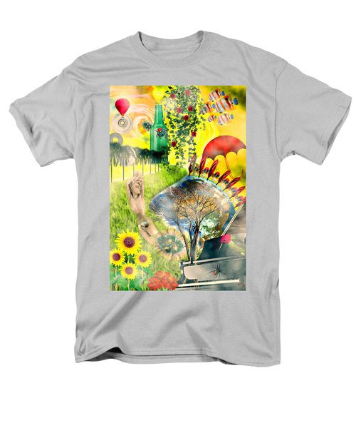 Men's T-Shirt  (Regular Fit) featuring the mixed media Drifting Away by Ally  White