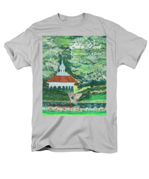 Men's T-Shirt  (Regular Fit) featuring the painting Eden Park Gazebo  Cincinnati Ohio by Diane Pape