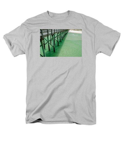 Men's T-Shirt  (Regular Fit) featuring the photograph Emerald Green Tide  by Susan  McMenamin