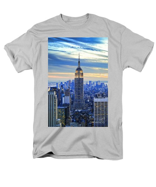 Empire State Building New York City Usa Men's T-Shirt  (Regular Fit) by Sabine Jacobs