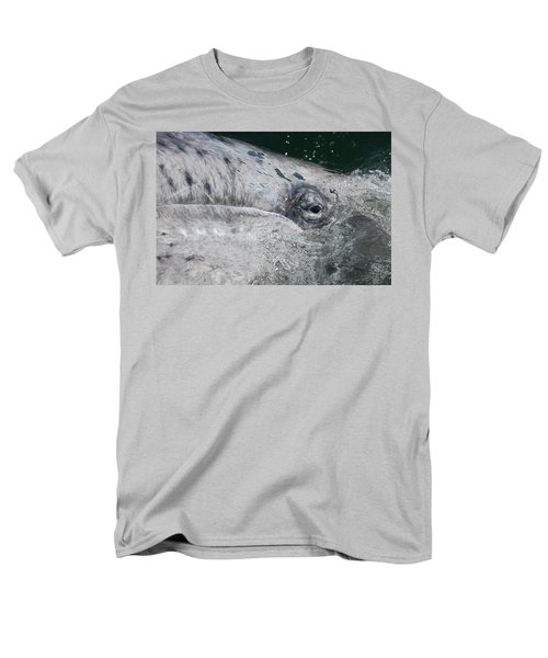Eye Of A Young Gray Whale Men's T-Shirt  (Regular Fit) by Don Schwartz