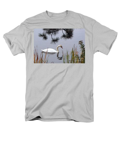 Feathered Friend Along The Shoreline Men's T-Shirt  (Regular Fit) by Cedric Hampton