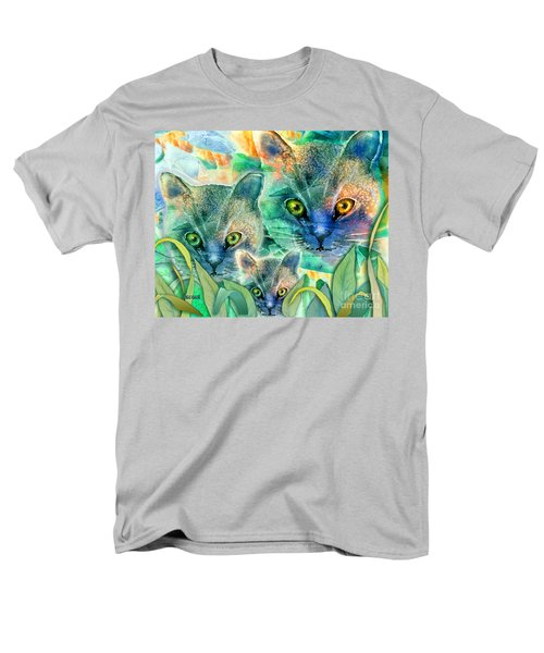 Men's T-Shirt  (Regular Fit) featuring the painting Feline Family by Teresa Ascone