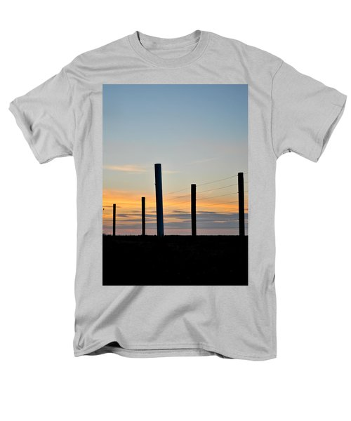 Fence Posts At Sunset Men's T-Shirt  (Regular Fit) by Wayne King
