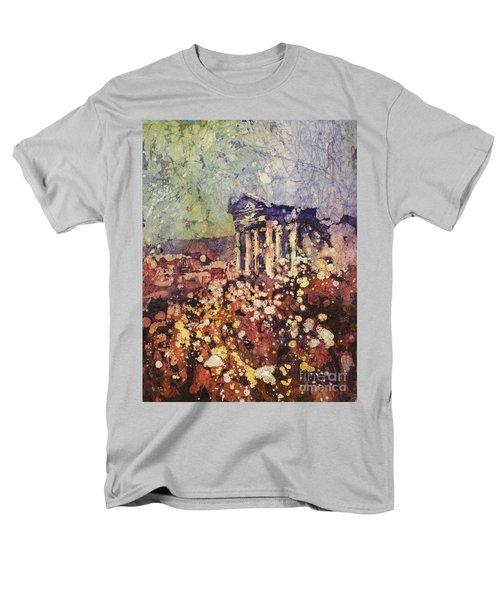Fields Of Flower- And Roman Temple Men's T-Shirt  (Regular Fit)