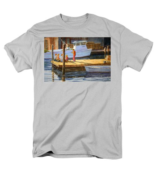 Men's T-Shirt  (Regular Fit) featuring the painting Fish Tales At Cortez by Roger Rockefeller