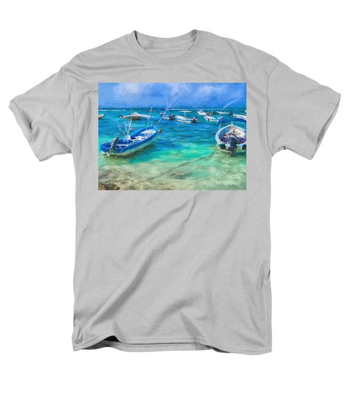 Fishing Boats Men's T-Shirt  (Regular Fit) by Peggy Hughes