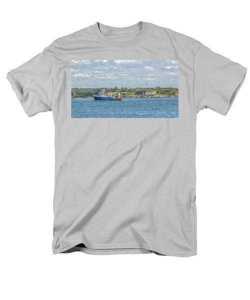 Men's T-Shirt  (Regular Fit) featuring the photograph Fishing Trawler Coming Into Port by Jane Luxton