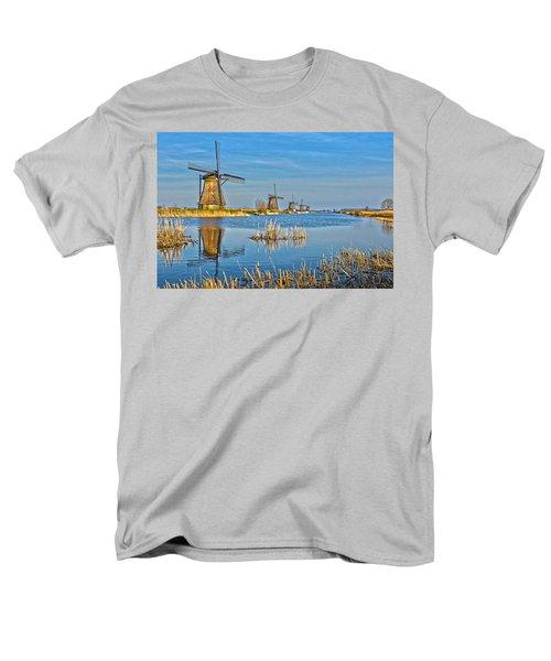 Five Windmills At Kinderdijk Men's T-Shirt  (Regular Fit) by Frans Blok