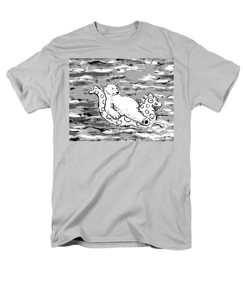Floating Bear Grisaille Men's T-Shirt  (Regular Fit) by Holly Wood