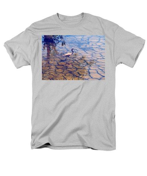 Florida Wetlands Wading Heron Men's T-Shirt  (Regular Fit) by David Mckinney