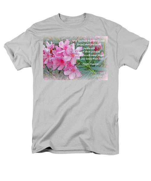 Flowers With Maya Angelou Verse Men's T-Shirt  (Regular Fit) by Kay Novy