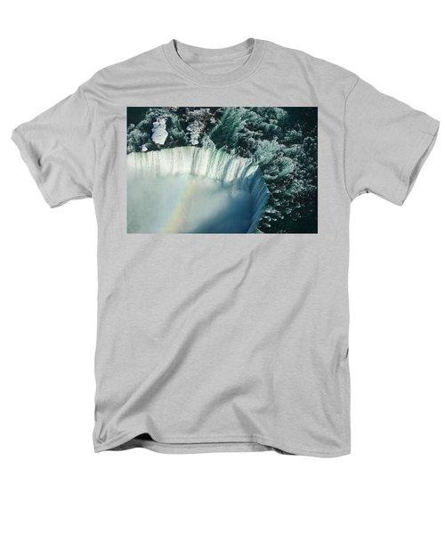 Flying Over Icy Niagara Falls Men's T-Shirt  (Regular Fit) by Georgia Mizuleva