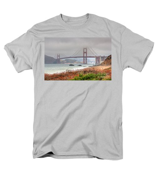 Men's T-Shirt  (Regular Fit) featuring the photograph Foggy Bridge by Kate Brown