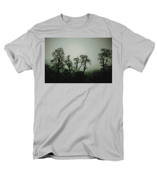 Men's T-Shirt  (Regular Fit) featuring the photograph Foggy Mountain Morning At The Meadows Of Dan by John Haldane