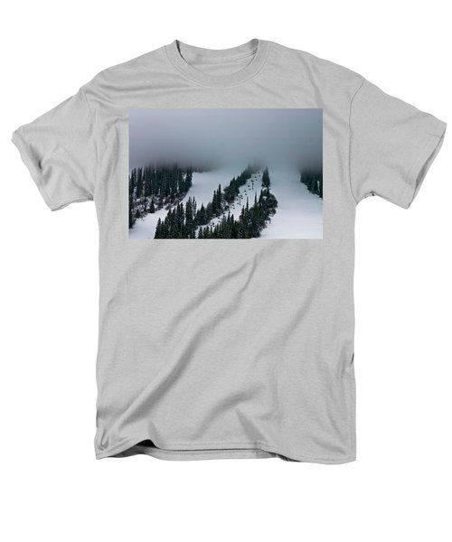 Foggy Ski Resort Men's T-Shirt  (Regular Fit) by Eti Reid