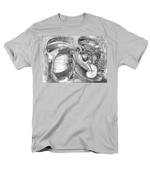 Men's T-Shirt  (Regular Fit) featuring the drawing Fomorii Aliens by Otto Rapp