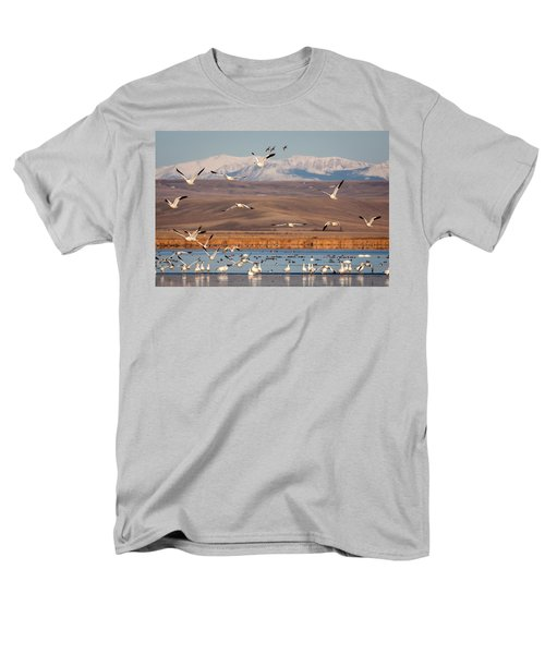 Men's T-Shirt  (Regular Fit) featuring the photograph Freeze Out Lake Morning by Jack Bell