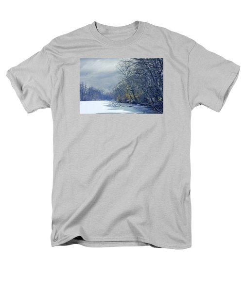 Men's T-Shirt  (Regular Fit) featuring the photograph Frozen Pond by John Rivera