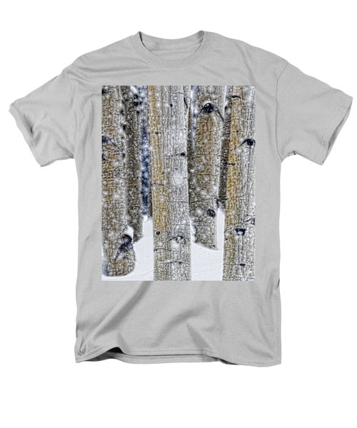 Gently Falling Forest Snow Men's T-Shirt  (Regular Fit) by Don Schwartz