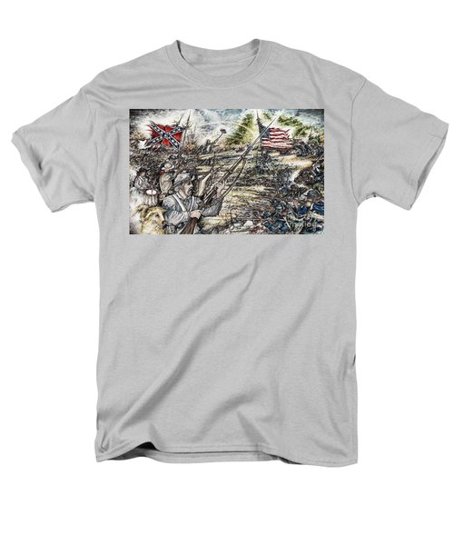 Gettysburg Ash's At The Angle Men's T-Shirt  (Regular Fit) by Scott and Dixie Wiley