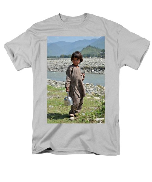 Men's T-Shirt  (Regular Fit) featuring the photograph Girl Poses For Camera  by Imran Ahmed