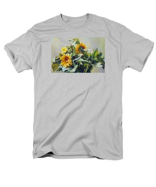 Good Morning - Sunflower In Love Men's T-Shirt  (Regular Fit) by Svitozar Nenyuk