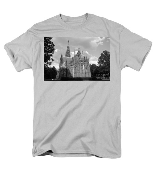 Men's T-Shirt  (Regular Fit) featuring the photograph Gothic Church In Black And White by John Telfer