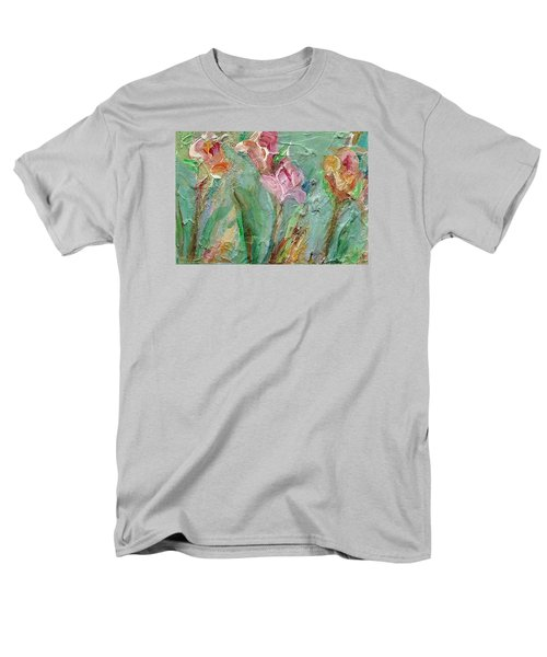 Men's T-Shirt  (Regular Fit) featuring the painting Grace's Garden by Mary Wolf