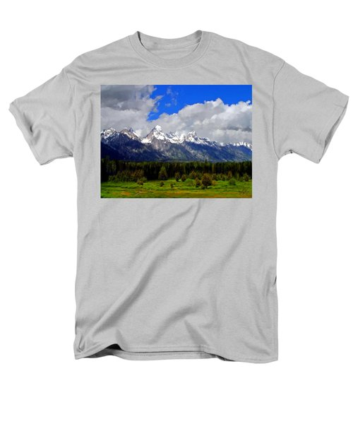 Grand Teton Mountains Men's T-Shirt  (Regular Fit) by Bruce Nutting