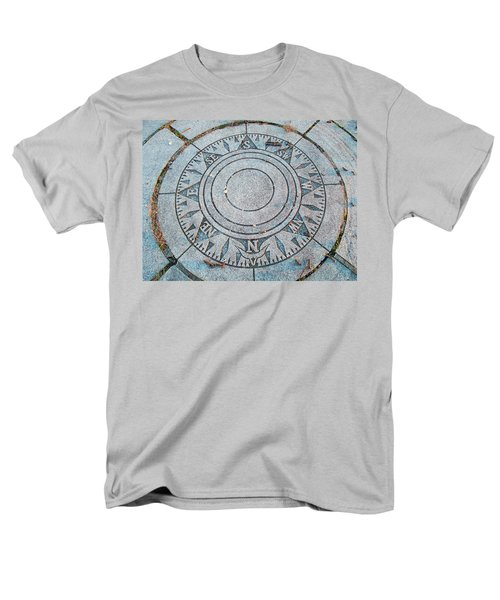 Men's T-Shirt  (Regular Fit) featuring the photograph Granite Compass by Barbara McDevitt