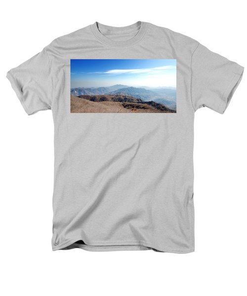 Men's T-Shirt  (Regular Fit) featuring the photograph Great Wall Of China - Mutianyu by Yew Kwang