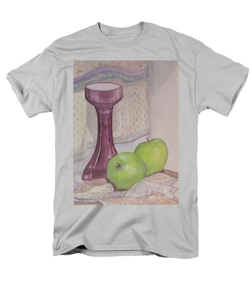 Men's T-Shirt  (Regular Fit) featuring the painting Green Apples by Carol Flagg